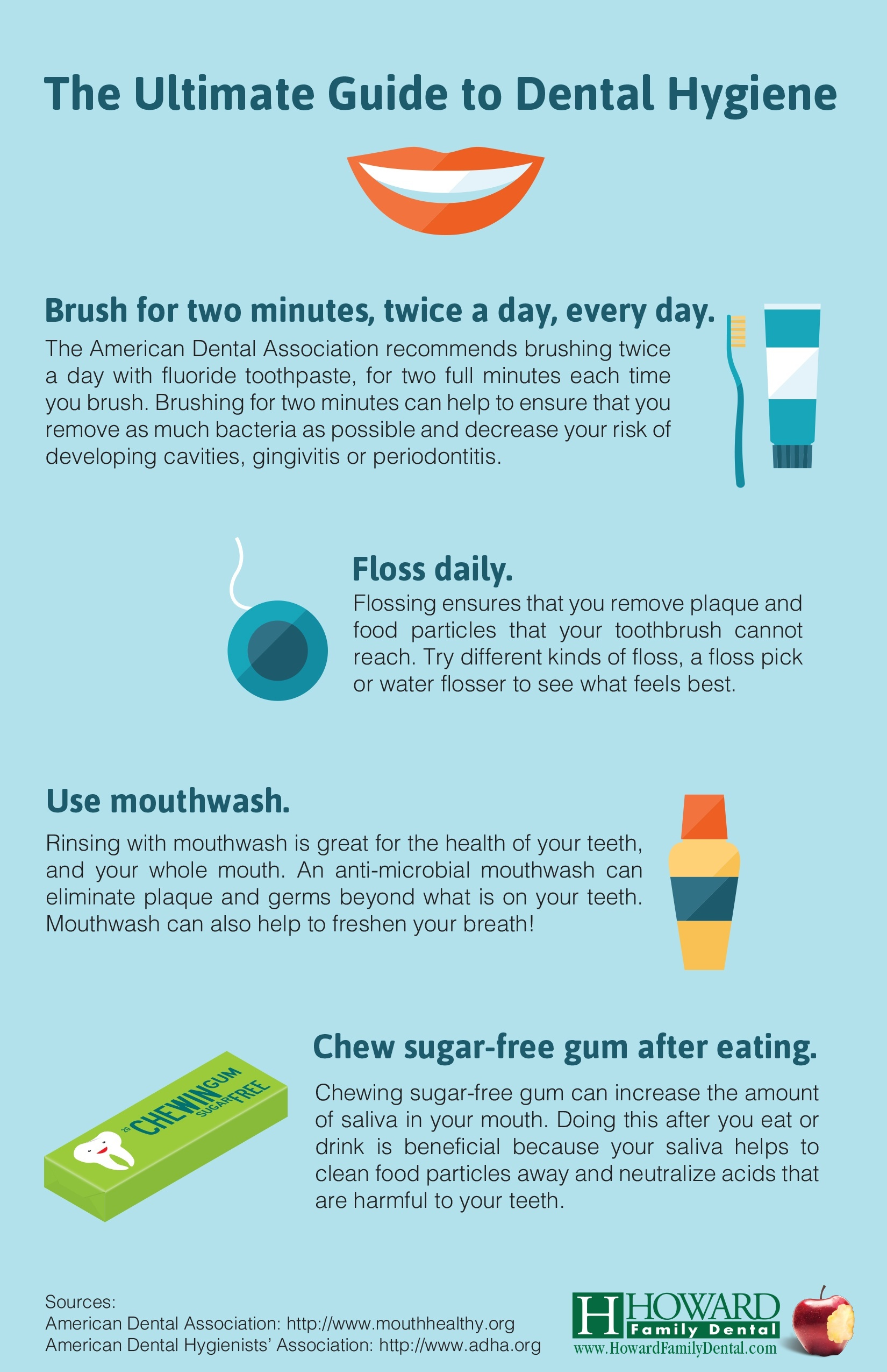 Ultimate Guide to Dental Hygiene infographic